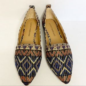 Lucky Brand Point Toe Flats